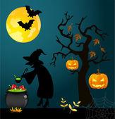 Halloween card — Stockvector