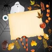 Halloween karta s místem pro váš text — Stock vektor