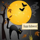 Halloween-kaart met plaats voor uw tekst — Stockvector
