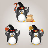 Halloween penguin — Stock Vector