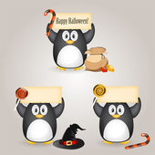 Halloween penguin — Vector de stock