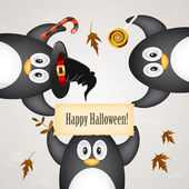Halloween penguin — Stockvektor
