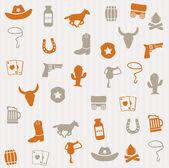 Cowboy seamless pattern — Stock Vector