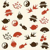 Asian seamless pattern — Stock Vector