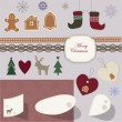 Christmas scrapbook — Stock Vector