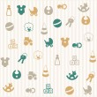 Royalty-Free Stock Vector Image: Baby seamless pattern