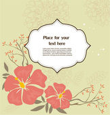 Floral greeting card — Stok Vektör