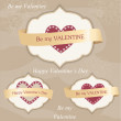Valentine's day labels — Grafika wektorowa
