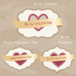 Royalty-Free Stock Vector Image: Valentine\'s day labels
