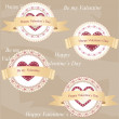 Royalty-Free Stock Vector Image: Valentine\'s day badges and labels