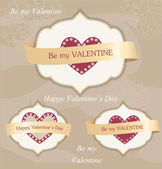 Valentine's day labels — Vettoriale Stock
