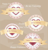 Valentine's day labels — Vector de stock