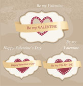 Valentine's day labels — Vetorial Stock