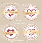 день святого валентина значки и ярлыки — Cтоковый вектор