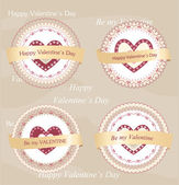 Valentine's day badges and labels — Stockvektor