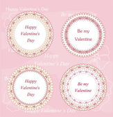 Valentine's day badges and labels — Stock Vector
