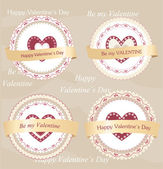 Valentine's day badges and labels — Vector de stock