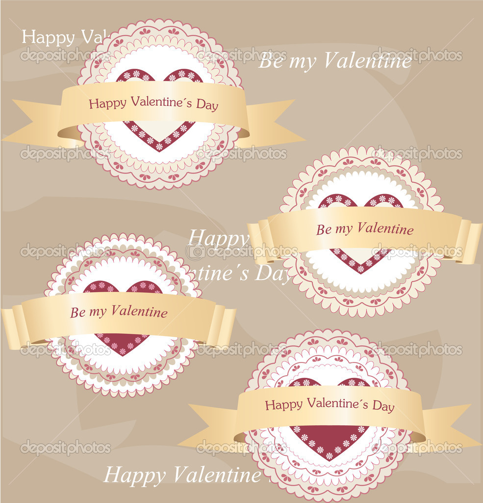 Valentine's day labels — Stock Vector #18057141