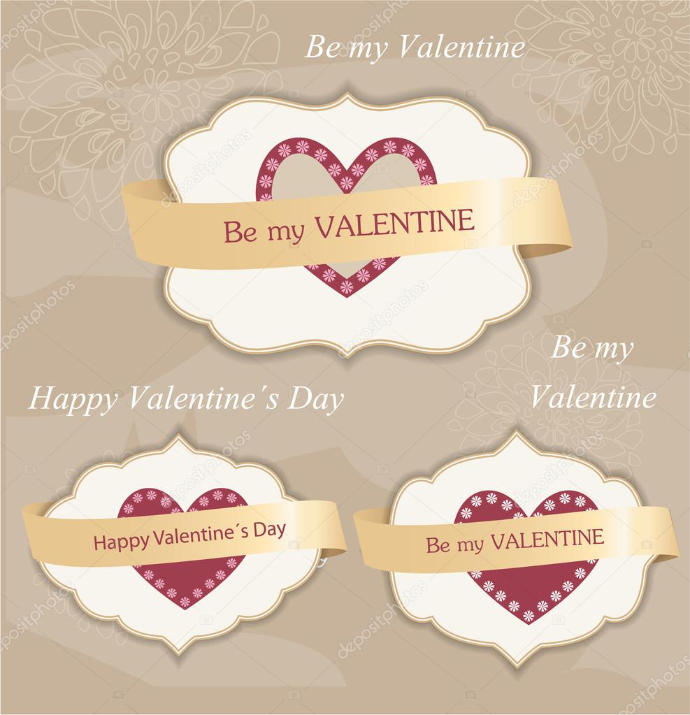 Valentine's day labels — Stock Vector #18057143