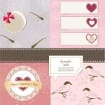 Valentine`s Day scrapbook elements — Stock Vector #18094679