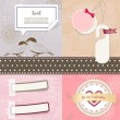 Vector de stock : Valentine`s Day scrapbook elements