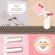 Wektor stockowy : Valentine`s Day scrapbook elements