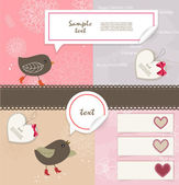 Valentine`s Day scrapbook elements — Stock Vector