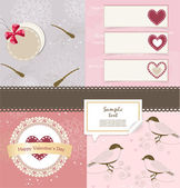 Valentine`s Day scrapbook elements — Stockvektor