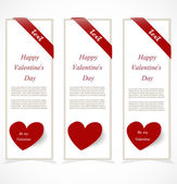 Valentine`s Day banners — Stock Vector