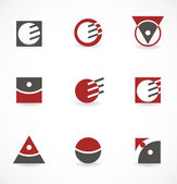Set of symbols for logo — Vector de stock