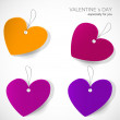 Valentine's day tags — Stock Vector