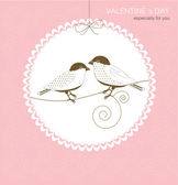 Greeting card with birds — Vector de stock