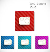 Buttons with icon of camera — Stock Vector