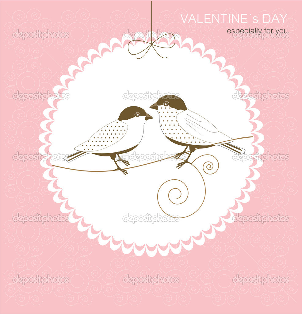 Greeting card with birds — Stock Vector #18742821