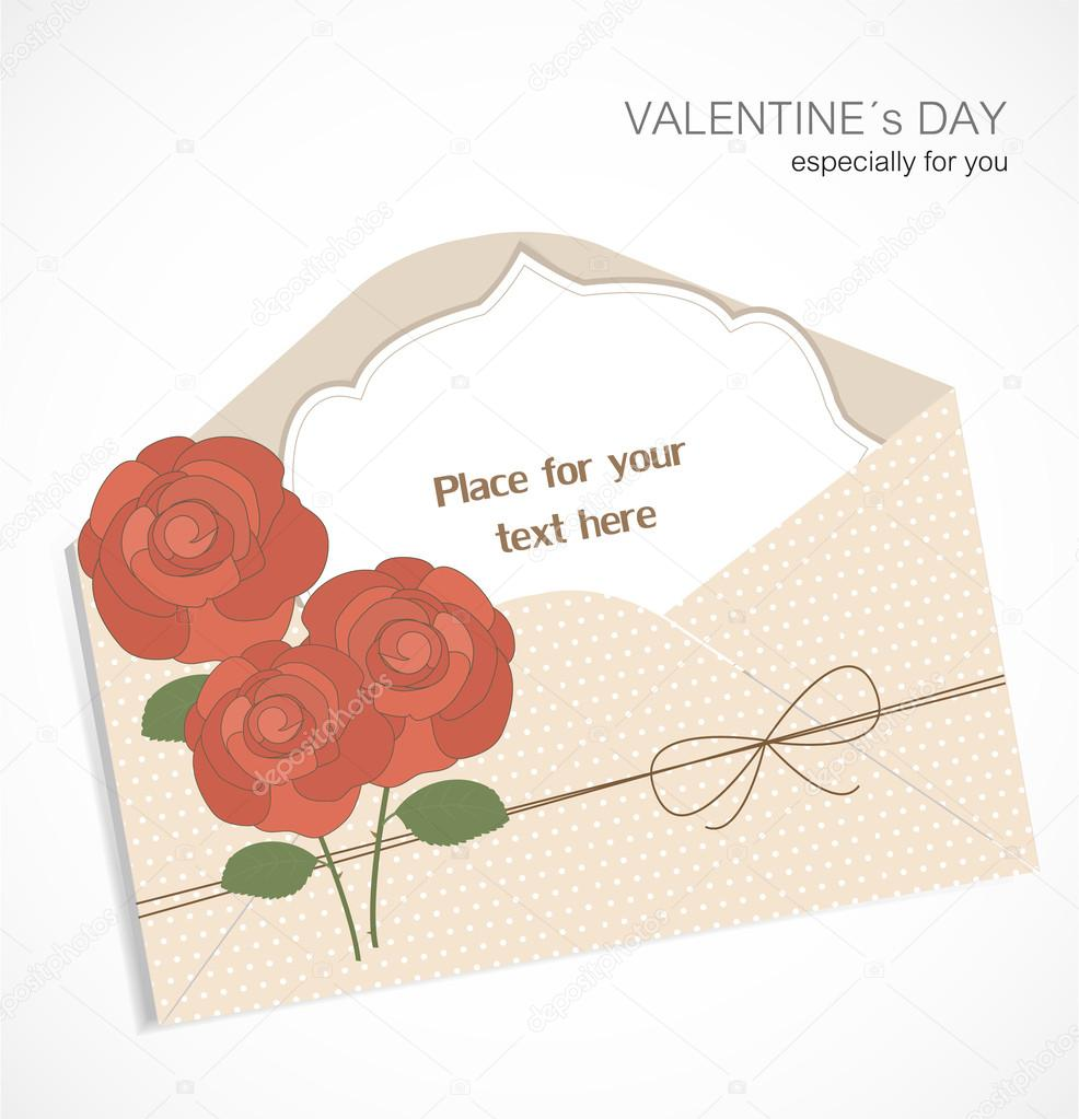 Valentine`s Day card  Stock Vector #18742841