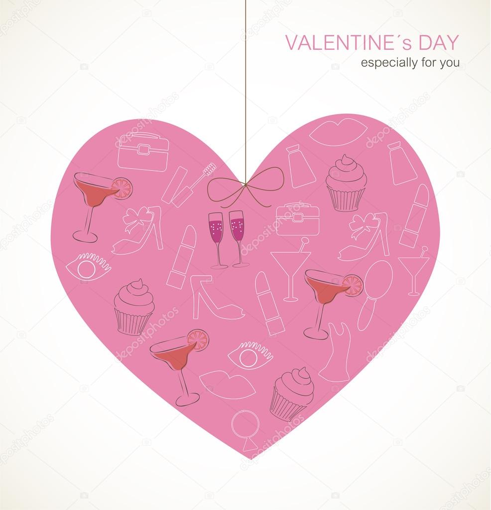Valentine`s Day card — Stock Vector #18742851