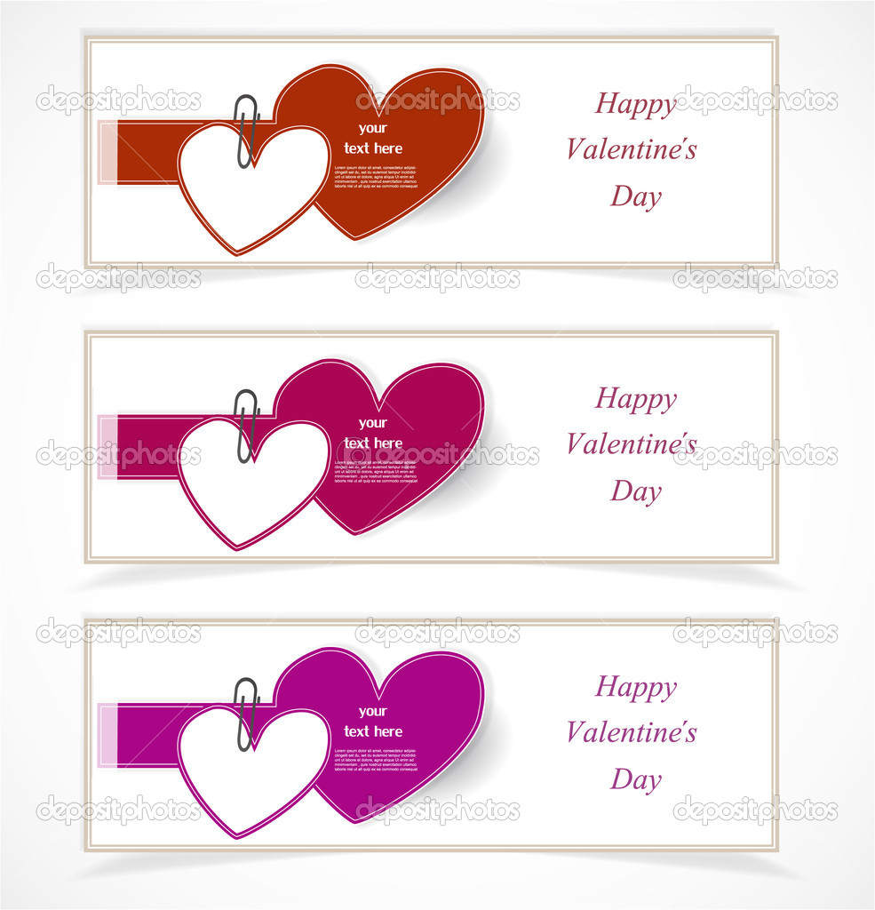 Valentine`s Day banners  Stock Vector #18742857