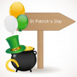 Stock Vector: St. Patrick day background