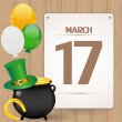 St. Patrick day background — Stock Vector