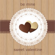 Valentine`s Day card with chocolate — Stock Vector #19168825