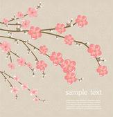 Cherry blossom card — Stock Vector