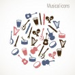 Stock Vector: Musical instrument icons