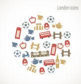 Londra simgeler — Stok Vektör