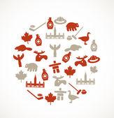 Canada symbols — Stock Vector