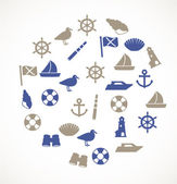 Seaside icons — Stock Vector