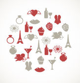 Romantic icons — Vector de stock