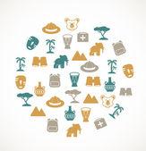 Africa symbols — Stock Vector