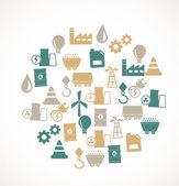 エネルギーと業界のアイコン — ストックベクタ