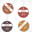Stock Vector: Discount tags
