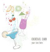 Cartão de cocktail — Vetor de Stock